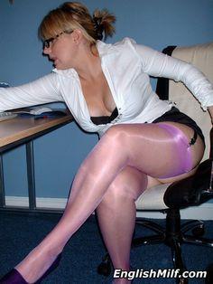 Hog reccomend Stockings and mini skirt milf porn