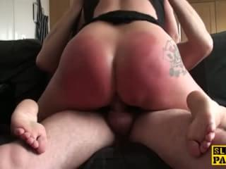 Bigtitted brit sub humiliated by maledom