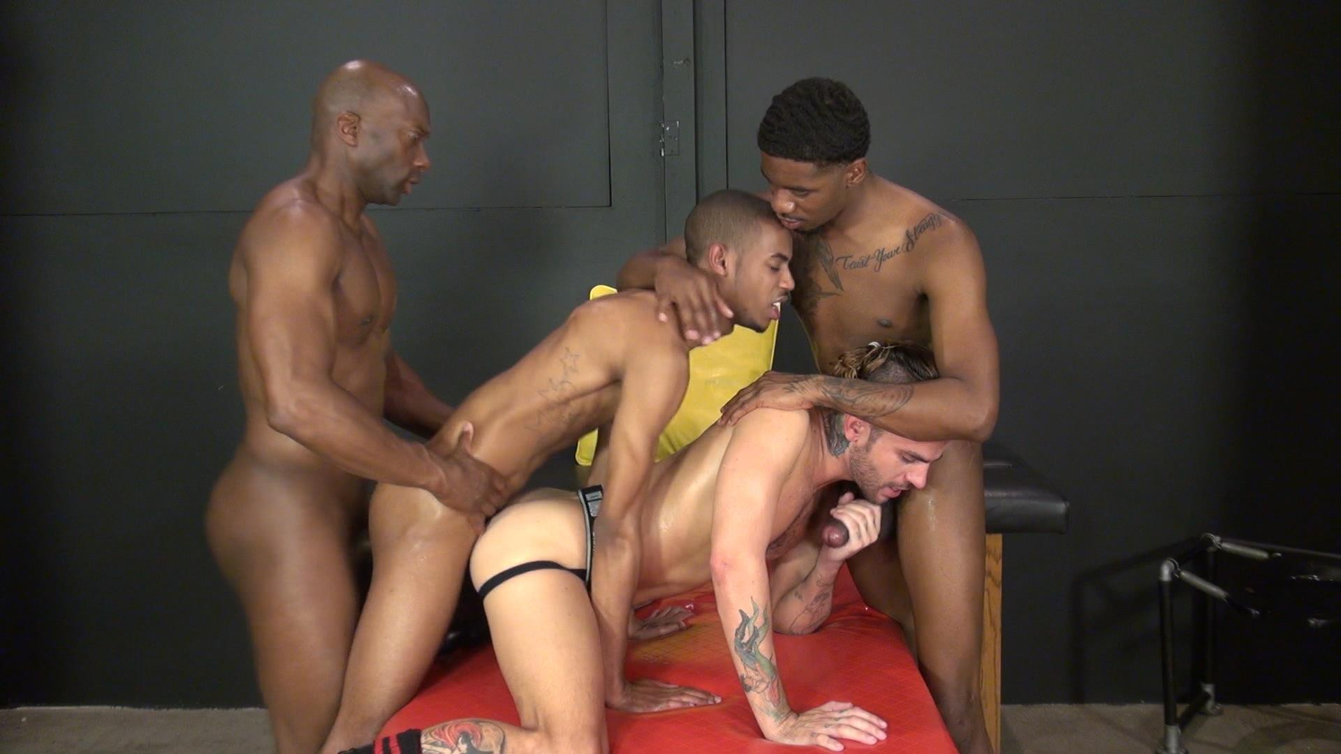Amateur gay twink gets black cock