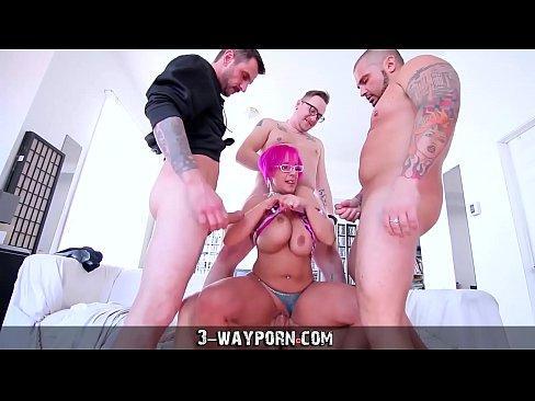 Relay reccomend busty Milf in wild gangbang. Big Tits porno