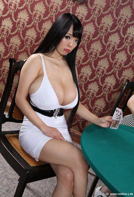 Amusing moment busty asians with natural racks commit