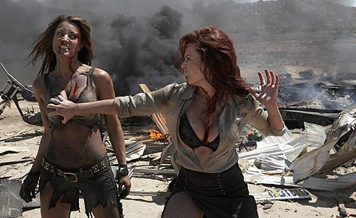 Busty girls fight