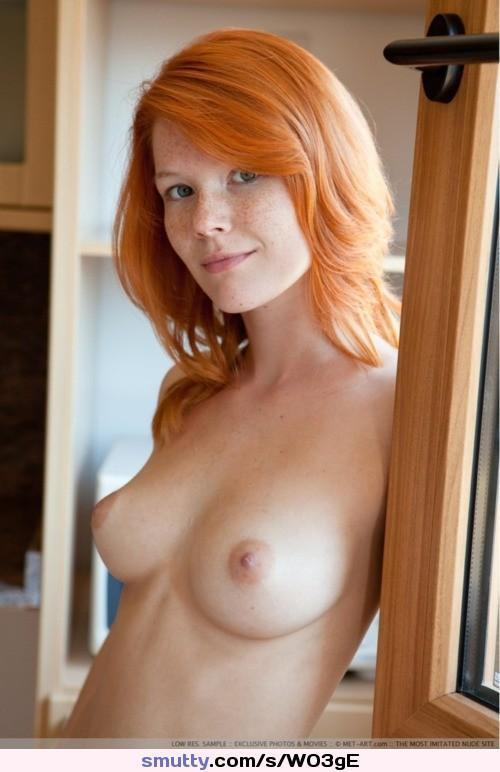 Pasty white redhead tits