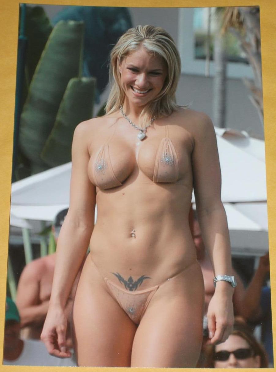 Topless bikini show congratulate