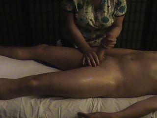 Hairy handjob hd Massage ends up in sex