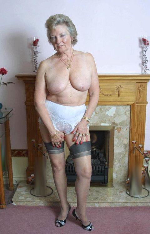 Hot horny granny having sex