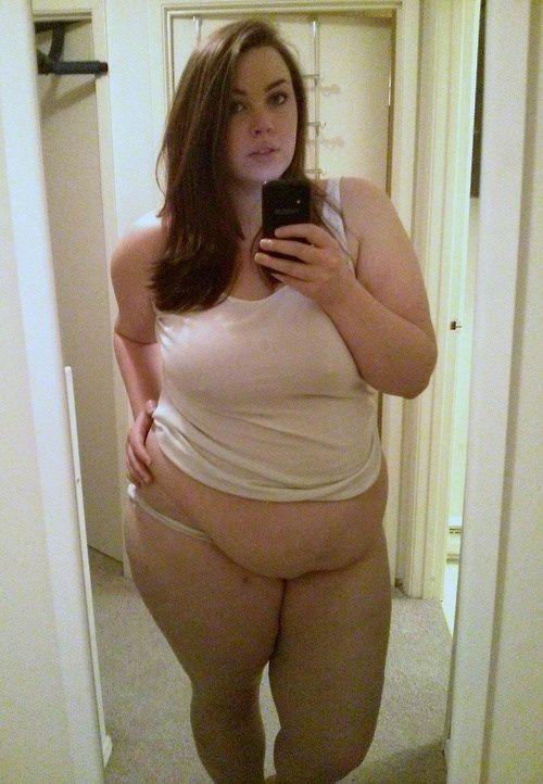 Wife nude fat tummy